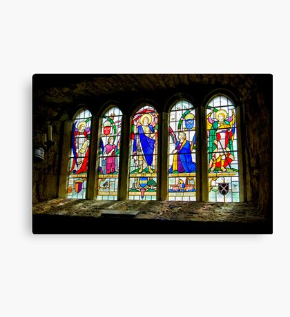 Hubberholme Church Window #3 Canvas Print
