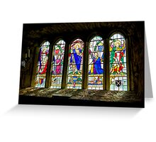 Hubberholme Church Window #3 Greeting Card