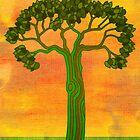 Green tree 2 by KatDoodling