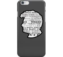 Doctor Who Quote -Timey Wimey  iPhone Case/Skin