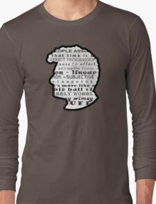 Doctor Who Quote -Timey Wimey  Long Sleeve T-Shirt