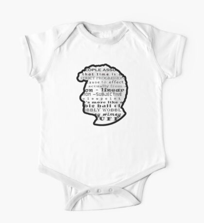 Doctor Who Quote -Timey Wimey  One Piece - Short Sleeve