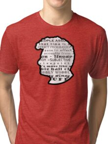 Doctor Who Quote -Timey Wimey  Tri-blend T-Shirt
