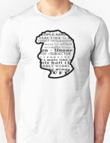 Doctor Who Quote -Timey Wimey  Unisex T-Shirt