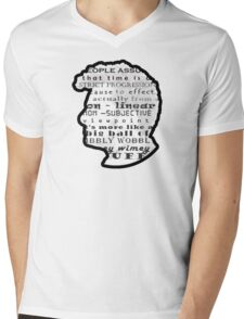 Doctor Who Quote -Timey Wimey  Mens V-Neck T-Shirt