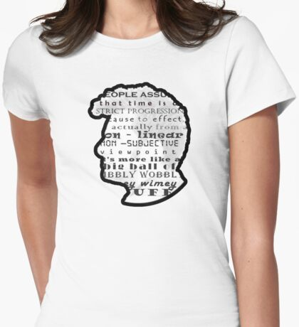 Doctor Who Quote -Timey Wimey  Womens Fitted T-Shirt