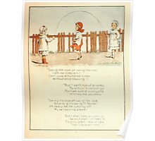 The Glad Year Round for Boys and Girls by Almira George Plympton and Kate Greenaway 1882 0025 Jumping Rope Poster