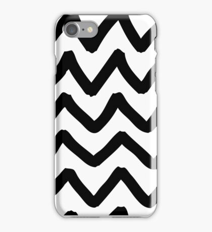 Abstract background with zigzag brush strokes iPhone Case/Skin