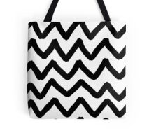 Abstract background with zigzag brush strokes Tote Bag