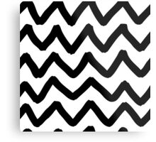 Abstract background with zigzag brush strokes Metal Print