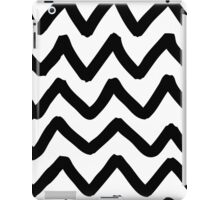 Abstract background with zigzag brush strokes iPad Case/Skin