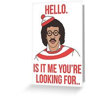 Lionel Richie - Where's Wally ?  Greeting Card