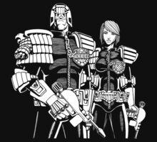 Judge Dredd & Judge Anderson  by sirllamalot
