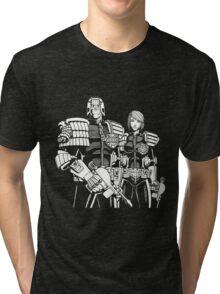Judge Dredd & Judge Anderson  Tri-blend T-Shirt