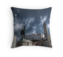 Local Hero - Piran, Slovenia Throw Pillow