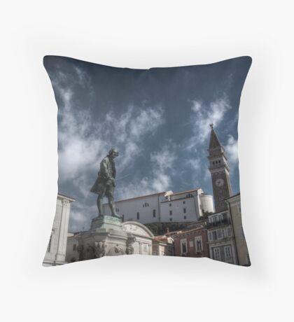 Local Hero - Piran, Slovenia Throw Pillow