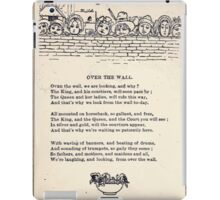 Miniature Under the Window Pictures & Rhymes for Children Kate Greenaway 1880 0048 Over the Wall iPad Case/Skin