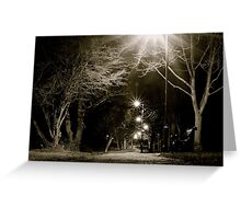 Starlit Path Greeting Card