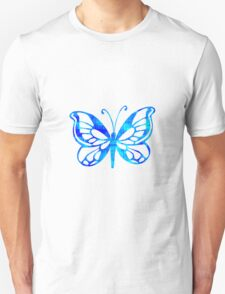 Blue Butterfly - Vector Art T-Shirt