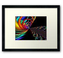 The Great Rainbow Fractal Framed Print