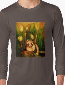 Cat in the Grass Long Sleeve T-Shirt