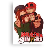 Wilson&Summers fake comic book cover (title-only) Canvas Print