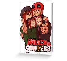 Wilson&Summers fake comic book cover (title-only) Greeting Card
