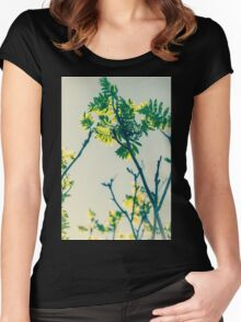 Beautiful nature Women's Fitted Scoop T-Shirt