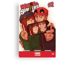 Wilson&Summers fake comic book cover (lettered) Canvas Print