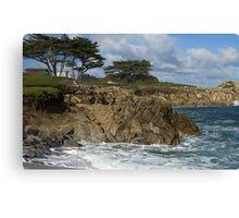 Winter Surf II - Pacific Grove, CA Canvas Print