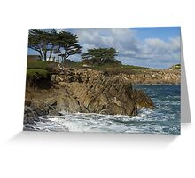 Winter Surf II - Pacific Grove, CA Greeting Card