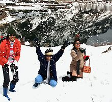 Fun on snow. by debjyotinayak