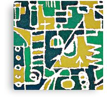 Colorful Tribal Abstract Pattern Canvas Print