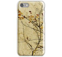 Nature Floral Print Collage in Warm Tones iPhone Case/Skin