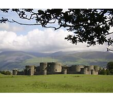 Beaumaris Castle and Snowdonian Mountains Photographic Print