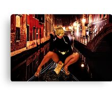 Fashion In Venice Fine Art Print Canvas Print