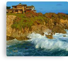 Winter Surf I - Pacific Grove, CA Canvas Print