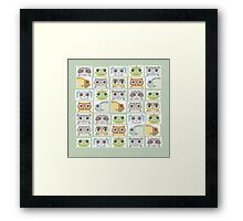 Portraits Of Animal Friends Framed Print