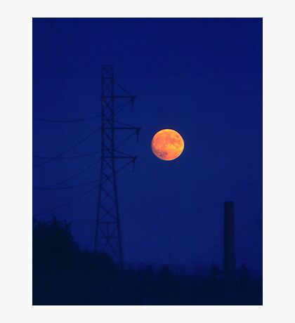 Moon and machines Photographic Print