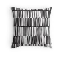 Doodle pattern. Abstract background with ink strokes. Throw Pillow