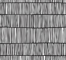 Doodle pattern. Abstract background with ink strokes. by epine
