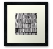 Doodle pattern. Abstract background with ink strokes. Framed Print