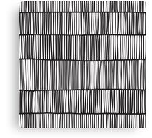 Doodle pattern. Abstract background with ink strokes. Canvas Print