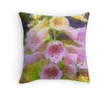 Cowbell Flowers - Cambria, CA Throw Pillow