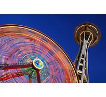 Space Wheel Photographic Print