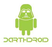 Darthdroid Darth Vader android Photographic Print
