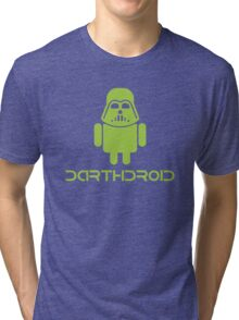 Darthdroid Darth Vader android Tri-blend T-Shirt