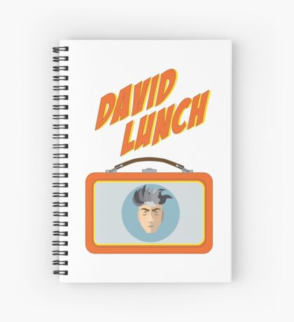 DAVID LUNCH by burro Spiral Notebook