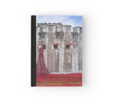 Poppies at The Tower Of London Hardcover Journal