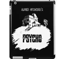 Alfred Hitchcock's Psycho by Burro! (black tee version) iPad Case/Skin